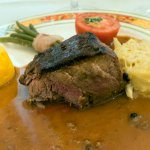 Beef Tournedos with pepper sauce