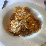 Pappardelle and penne with pollo. Excellent both options...