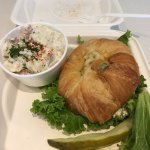 Chicken Salad Croissant with Potato Salad