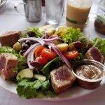 Nicoise salad with ahi tuna