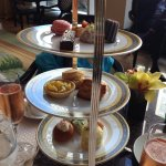 Afternoon Tea in the lobby at the Peninsula Hotel, Chicago