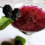 Ask our bartender, Laura, for one of her delicious cocktails! Here is a seasonal blackberry Mart