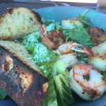 Seafood salad with scallops and shrimp