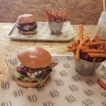 2 x smokehouse burger and sweet fries (not both for me!)