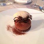 CIOCCOLATO domori chocolate, white chocolate ganache, almond stracciatella gelato