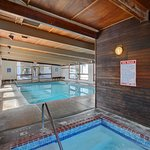 Indoor pool, hot tub, sauna