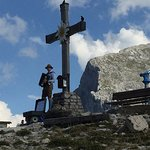 Cross at the top of the hill behind the Eagle's Nest