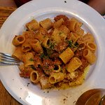 rigatoni con ragu toscano: slow-cooked beef and pork ragu, touch of cream $17.00