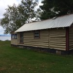 Hiawatha's Cabin Next Door (about same size) showing lake.