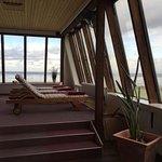 Ruheraum Sauna mit Meerblick