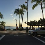 Crossing to Kuhio beach.