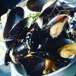 Local Brixham Mussels on our Specials board