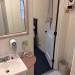 small vanity, no shelf, not clean