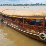 Our boat for our breakfast cruise along the Mekong