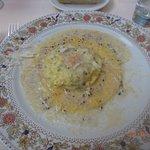 Signature dish - Ravioli with egg and truffle sauce