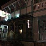 Taken during night time (Dinner). Right outside the restaurant standing in the street.