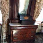 Mrs Polk's dresser. Unfortunately, my pic doesn't show the 4 way book matched veneer on the draw