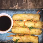 Duck and Ginger Spring Rolls