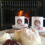Perfect spot for a hot chocolate and warm scones!