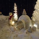 Winter fantasy display at Thunder Falls Buffet in Niagara Falls, New York (photo by Prof. HJ Bir