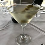 The martini at Voyaters was perfect: Grey Goose, dirty, with olives. Yum.