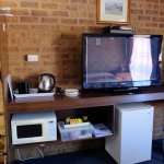 Telly, fridge, kettle, toaster, microwave, trinkets box...