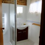 Modernised and VERY clean bathroom.