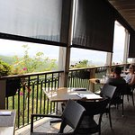 Patio dining with a view