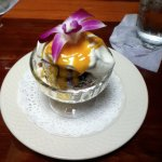 Blueberry & Champagne Trifle w/Mango Coulis