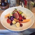 Beautifully presented delicate fruit dish at The Pantry