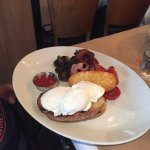 Poached eggs at the Pantry