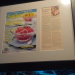 "Framed review of Sawyer's from ""Southern Living"""