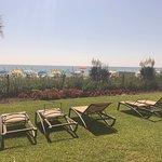 The private sunbathing area