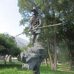 Snowshoe Thompson Statue, Mormon Station State Historic Park, Genoa, Nevada