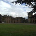 The imposing front of Floors Castle from the woodland walk