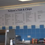Nelson's FIsh & Chips, Ravenswood, Ipswich  new menu board