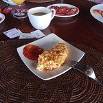 Cheesy made to order omelet,  yummy