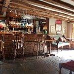 The friendly bar area