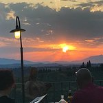 Great views over Tuscan vineyards