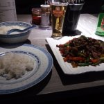 Beef and peppers very dry and lacked taste