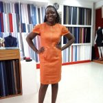 Happy Custmore with her dress .