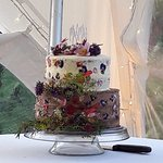 Just to add to our review- our fantastic wedding cake! Thank you PKG! James & Amber