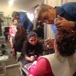 At the beauty parlour in Avari Towers, Tariq Amin
