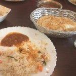 Ghee Rice+ Chicken Curry, Kerala Porotta