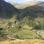 Looking down from the Nufenen Pass - just a great bike ride.