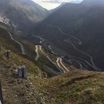 One of the amazing cycling routes - descent from the Grimsel Pass, with the Furka Pass climbing