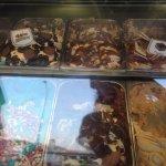 El mostrador de helados ummm...