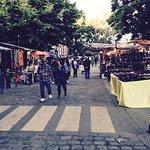 Open market stalls