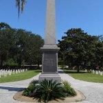 Obelisk in the center of the cemetery