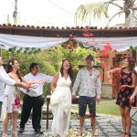 Vow renewal in the villa garden